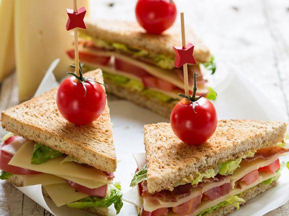 BLT-Sandwich mit Le Gruyère AOP