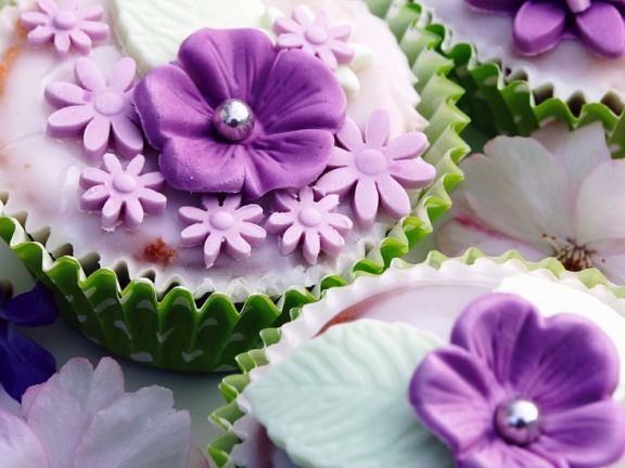 Blüten-Muffins
