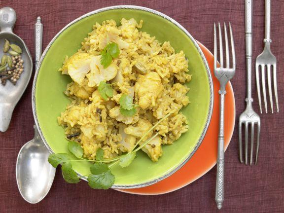Blumenkohl-Reis-Pilaw