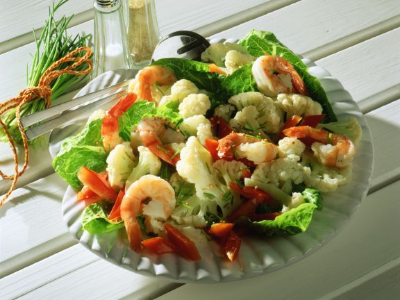 Blumenkohlsalat mit Krabben