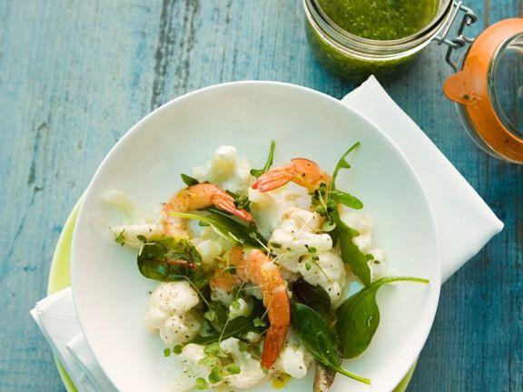 Blumenkohlsalat mit Shrimps