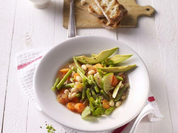 Bohnen-Avocado-Suppe