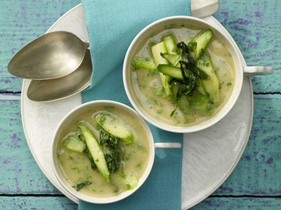 Bohnen-Bärlauch-Suppe