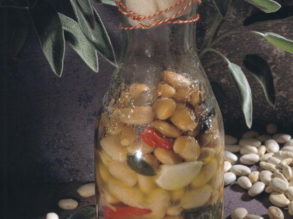 Bohnen in der Flasche