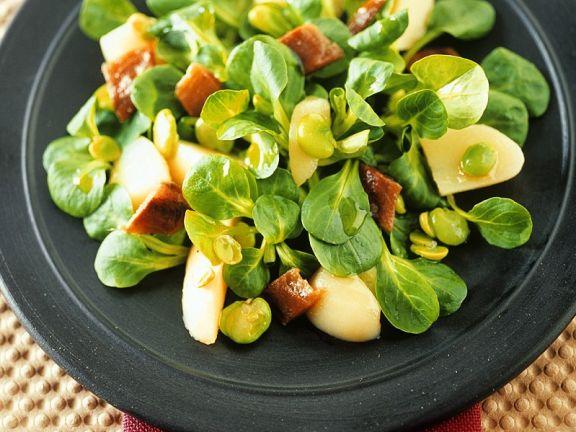 Bohnen-Kartoffel-Feldsalat