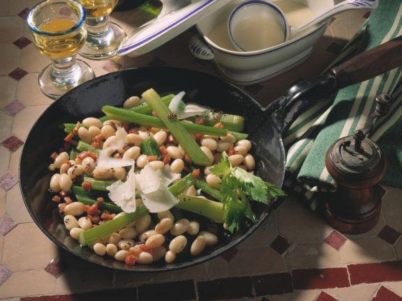 Bohnen-Sellerie-Gemüse