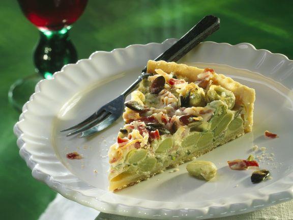 Bohnen-Speckkuchen