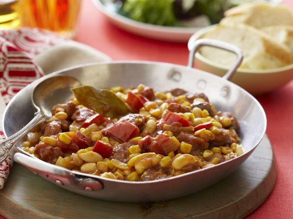 Bohnenpfanne auf mexikanische Art