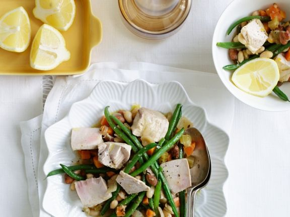 Bohnensalat mit gebratenem Thunfisch