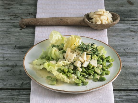 Bohnensalat mit Käse