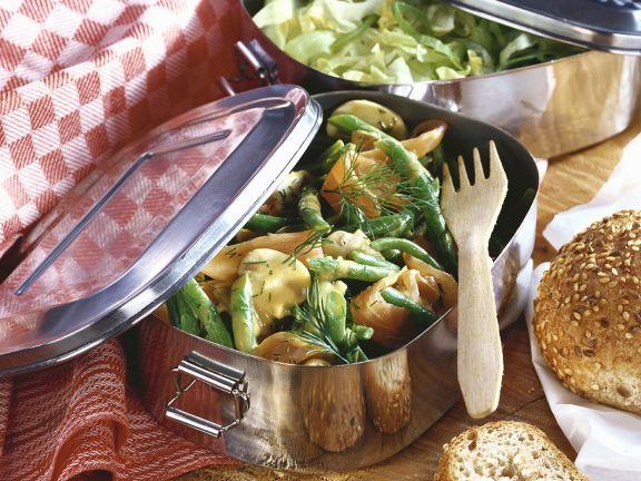 Bohnensalat mit Lachs
