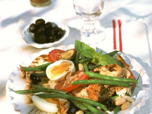 Bohnensalat mit Makrele