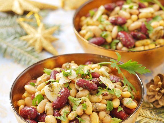 Bohnensalat mit Petersilie