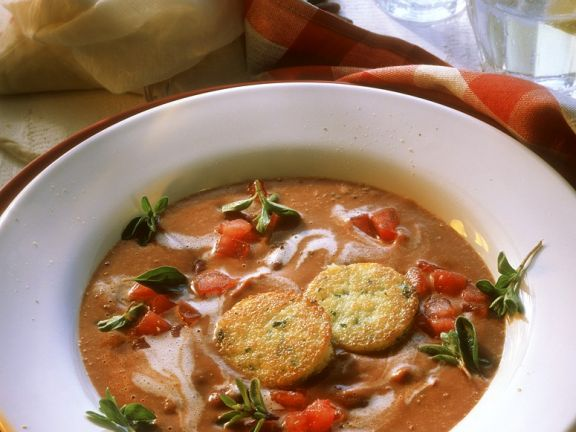 Bohnensuppe mit Polenta