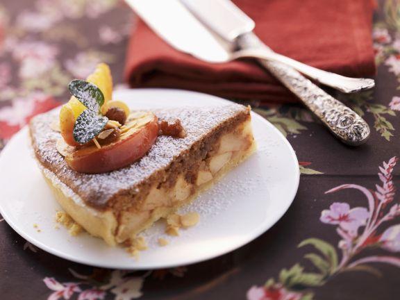Bratapfelkuchen mit Mürbeteig