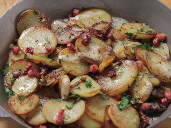 Bratkartoffeln garen