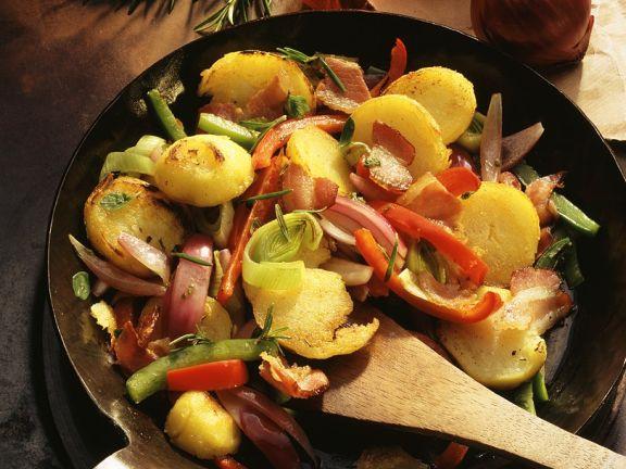 Bratkartoffeln mit Gemüse