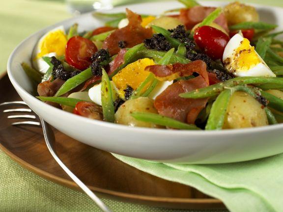 Bratkartoffelsalat mit Olivenpaste