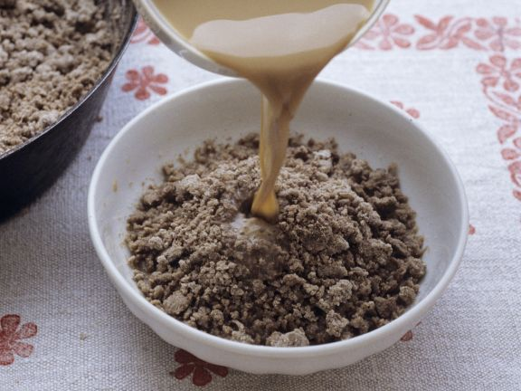 Brei aus Buchweizenmehl mit Kaffee