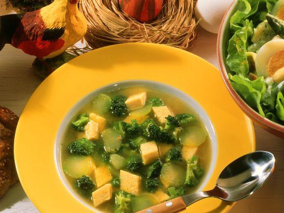 Broccolosuppe mit Eierstich-Einlage