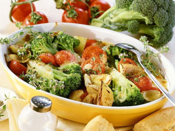 Brokkoli-Gemüse-Gratin