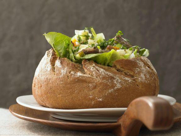 Brot mit Füllung aus Siedfleisch