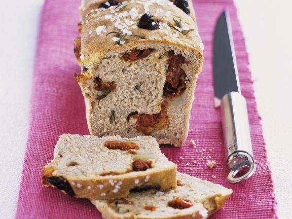 Brot mit Tomaten und Rosmarin