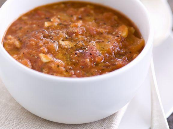 Brotsuppe mit Tomaten