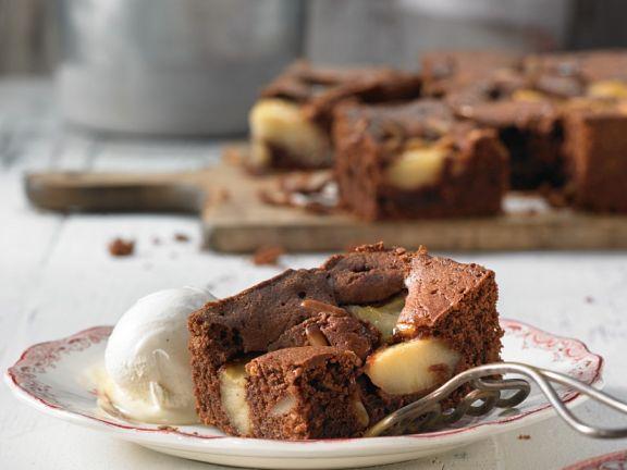 Brownies mit Apfelstücken