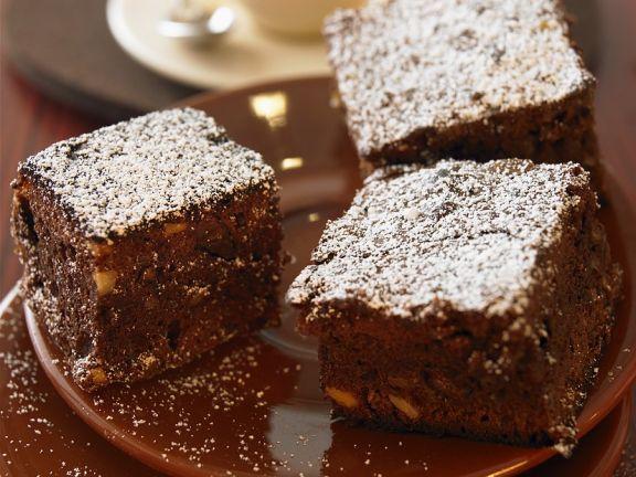 Brownies mit Kaffee