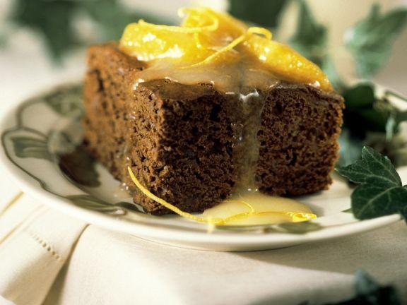 Brownies mit Orangensauce