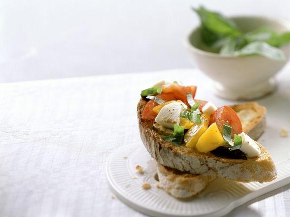 Bruschetta mit Gemüse