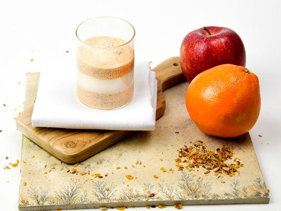 Budwig Creme mit Sanddorn und Apfel