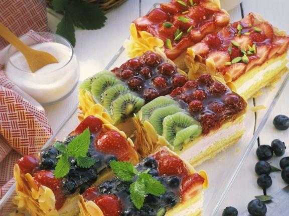 Bunte Obstkuchen