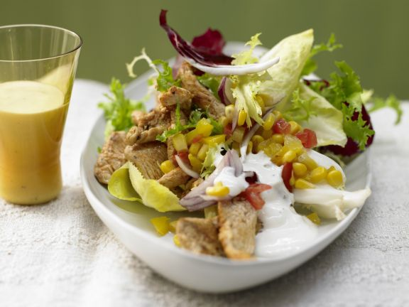 Bunte Salatschüssel
