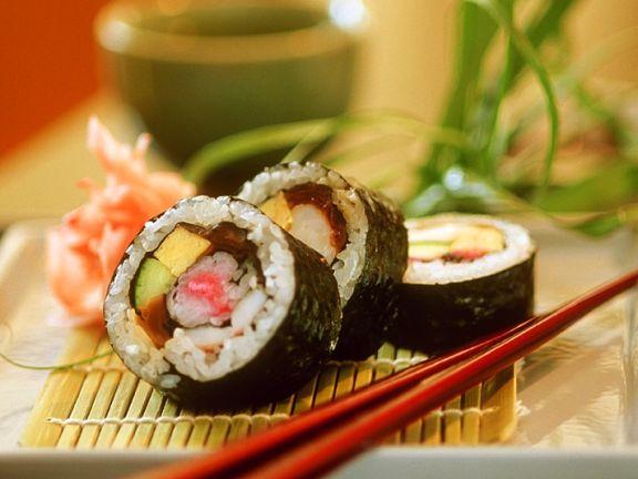 Bunte Sushi