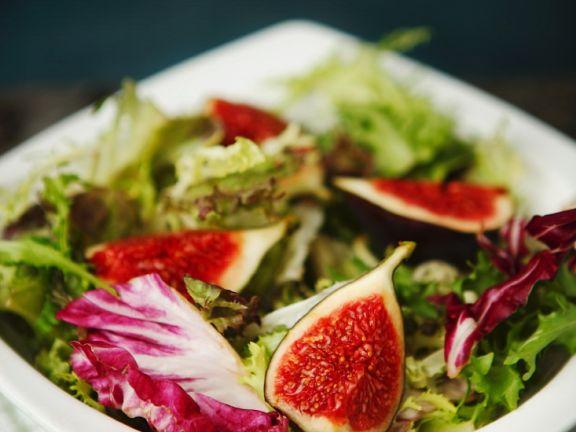 Bunter Feigen-Blattsalat