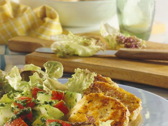 Bunter Salat mit Bulgurtalern