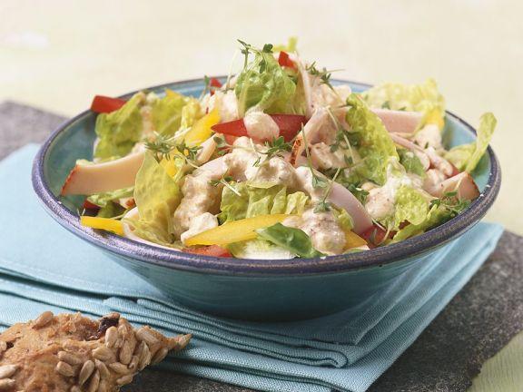 Bunter Salat mit Putenbrust