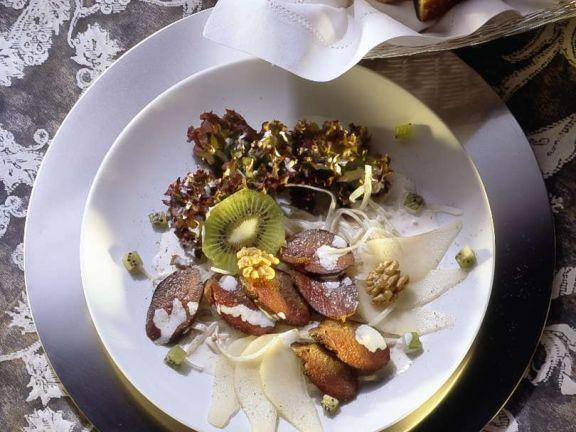 Bunter Salat mit Reh
