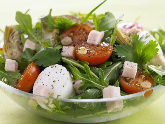 bunter salat mit tomate und mozzarella rezept eat smarter. Black Bedroom Furniture Sets. Home Design Ideas
