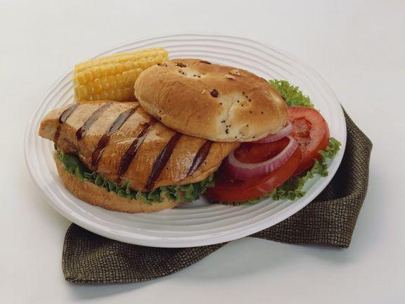 Burger mit Hähnchenbrust