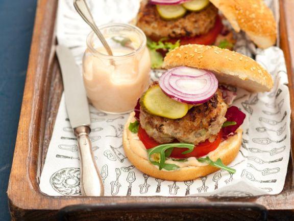 Burger mit Schweinehack