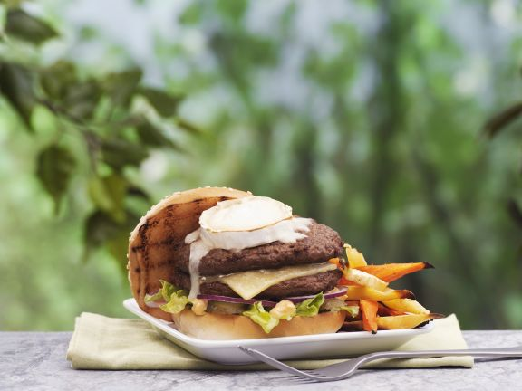 Burger mit Ziegenkäse