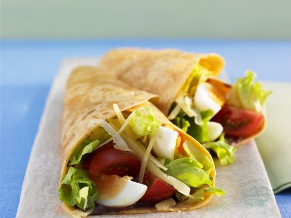 Burritos mit Salatfüllung