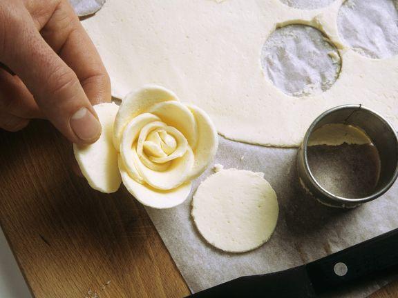 Butter in Rosenform