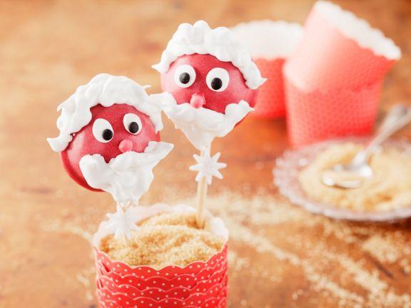 Cake Pops in Nikolausoptik