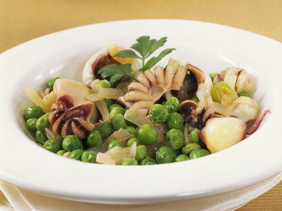 Calamari-Erbsen-Salat
