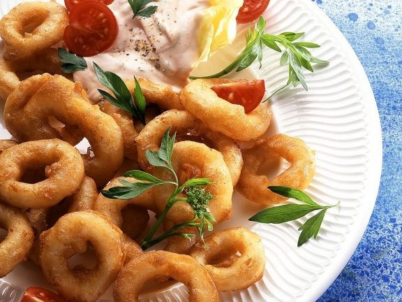 Calamari in Backteig