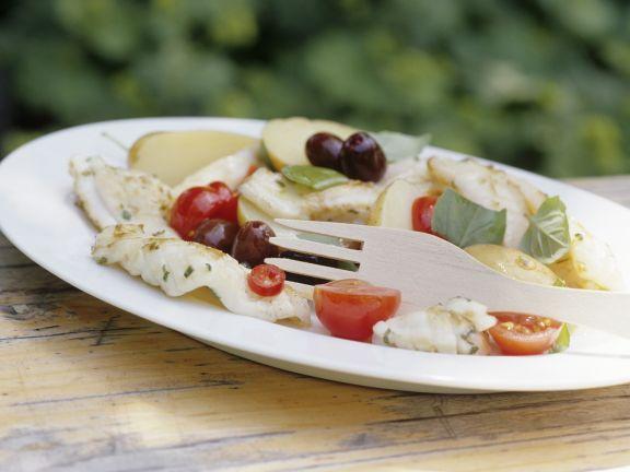 Calamarisalat mit Oliven